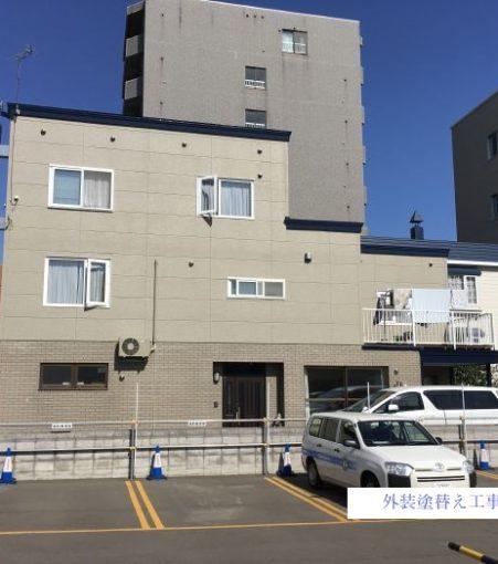 札幌市白石区 Sパーキング駐車場ライン塗